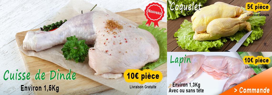 Livraison à domicile viande au détail Achahada PEVIA Loiret