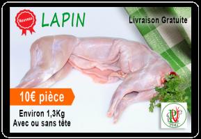 Livraison à domicile viande Lapin Achahada PEVIA Loiret