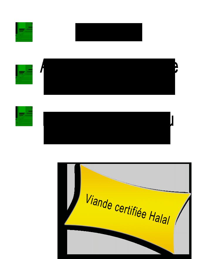 Viande halal certifiée d'origine Achahada directement producteur
